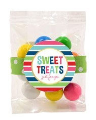 Color Matched Gumballs 3oz Cello Bag (Candy)