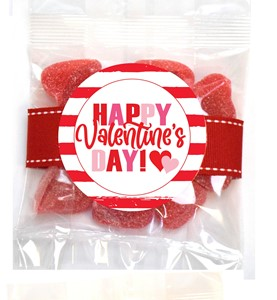 Sanded Cherry Hearts 3oz Cello Bag (Candy)