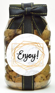 Nams Bits Chocolate Chip Cookies Glass Quart Jar