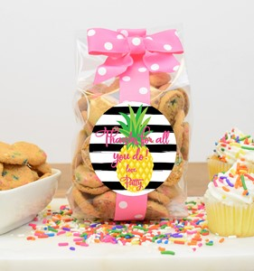 Confetti Cupcake Cookies 5oz Cello Bag-Custom