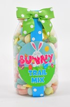 Bunny Trail Mix Plastic Quart Jar