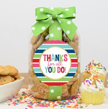 Confetti Cupcake Cookies Glass Quart Jar