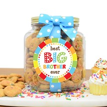 Confetti Cupcake Cookies Glass Half Gallon Jar