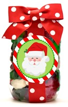 Holiday Gummy Bears Plastic Pint Jar