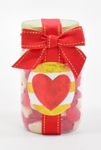 Valentine Gummy Bears Plastic Pint Jar