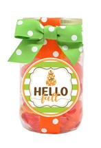 Gummy Pumpkins Plastic Pint Jar