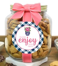 Nams Bits Chocolate Chip Cookies Glass Half Gallon Jar