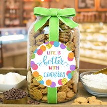 Nams Bits Chocolate Chip Cookies Glass Gallon Jar