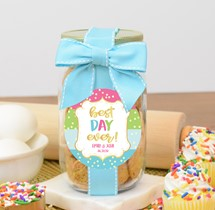Confetti Cupcake Cookies Glass Pint Jar