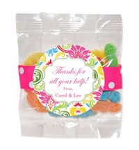 Sour Neon Gummy Worms 3oz Cello Bag (Candy)