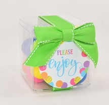 Color Matched Gumballs Candy Cube