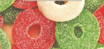 Sanded Holiday Gummy Wreaths