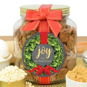 Brownie Crisps Plastic Half Gallon Jars-Custom
