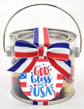 Red White & Blue Gummy Bears Paint Can Mini