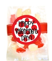 Valentine Gummy Bears Small Treat Bag (Candy)