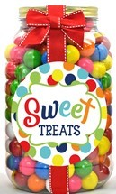 Color Matched Gumballs Plastic Gallon Jar