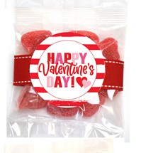 Sanded Cherry Hearts Small Treat Bag (Candy)