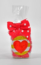 Sanded Cherry Hearts 6oz Cello Bag