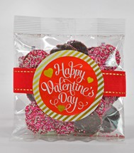 Valentine Milk Chocolate Nonpareils 3oz Cello Bag Premium (Candy)