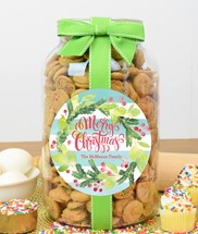 Confetti Cupcake Cookies Glass Gallon Jar