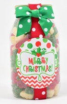 Holiday Gummy Bears Plastic Quart Jar