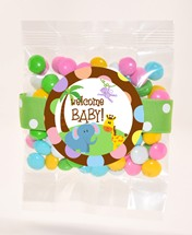 Color Matched Milk Chocolate Gems 3oz Cello Bag Premium (Candy)