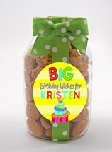 Chocolate Chip Cookies Glass Quart Jar