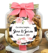 Chocolate Chip Cookies Glass Half Gallon Jar