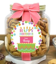 Chocolate Chip Cookies Plastic Half Gallon Jars
