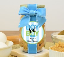 Whipped Butter Cookies Glass Pint Jar