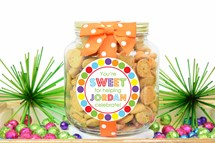 Whipped Butter Cookies Glass Half Gallon Jar