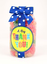 Sour Sanded Gummy Bears Plastic Quart Jar