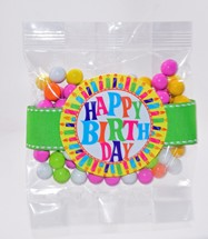 Color Matched Sixlets 3oz Cello Bag Premium (Candy)