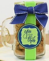 Brownie Crisps Cookies Glass Pint Jar With Handle