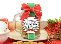 Ginger Snap Cookies Glass Pint Jar With Handle