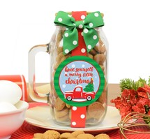 Ginger Snap Cookies Glass Quart Jar With Handle