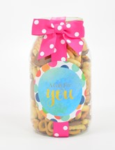 Savory Snack Mix Plastic Quart Jar