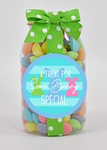 EGGstra Special Gummy Eggs in a Plastic Quart Jar