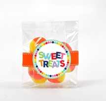 Peach Gummy Rings 3oz Cello Bag (Candy)