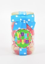 Watermelon Gummy Rings Plastic Pint Jar